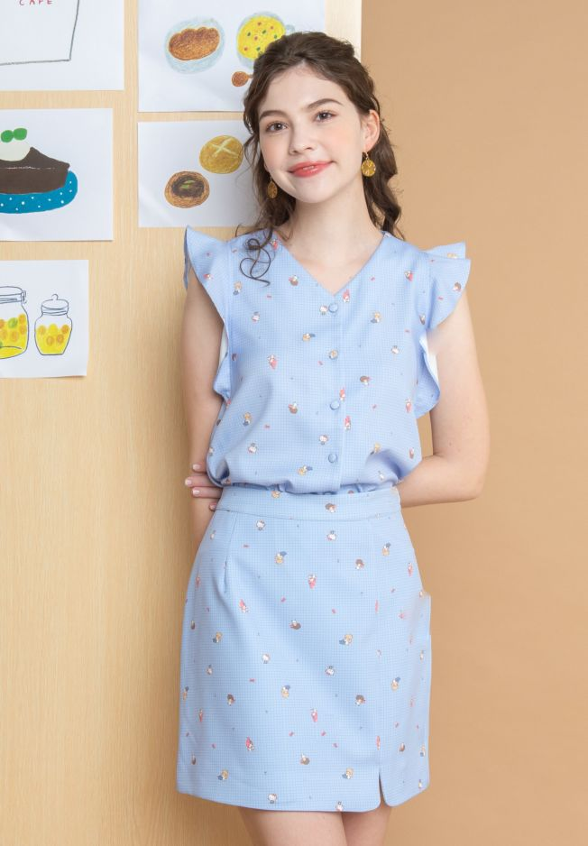 SANRIO MIX COOKING CLASS BLOUSE