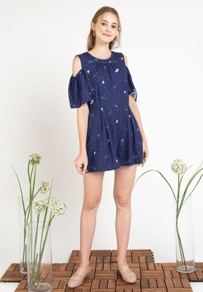 LITTLE TWIN STARS CONSTELLATIONS ROMPER