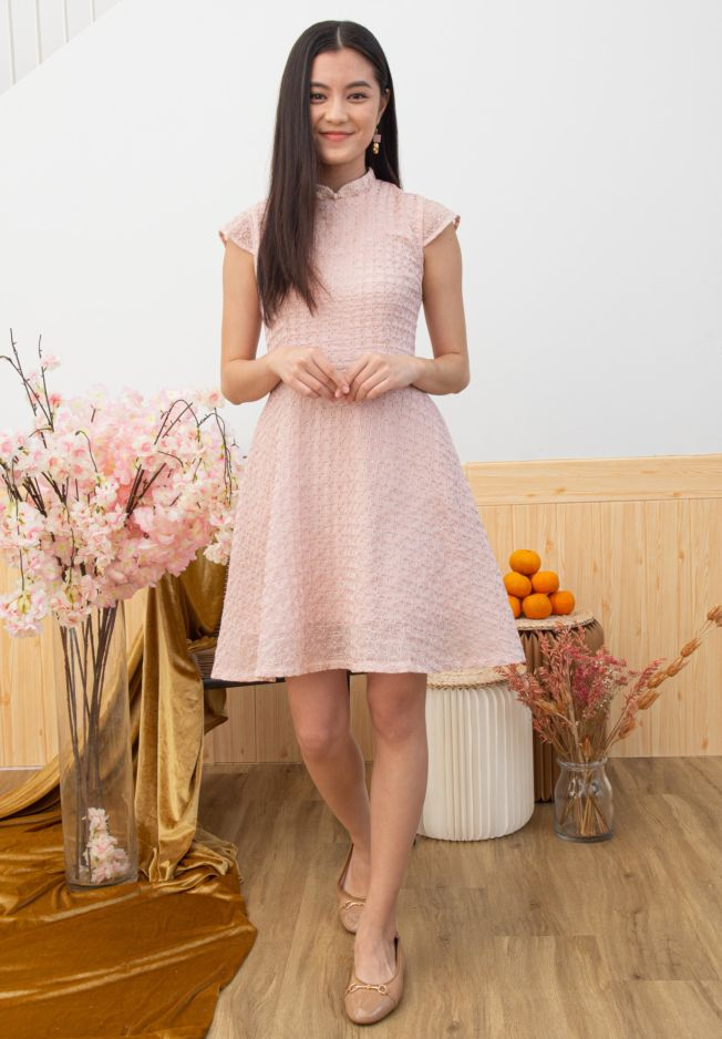RATIH DETACHABLE COLLAR CHEONGSAM DRESS