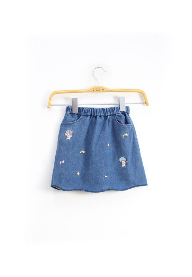 LITTLE TWIN STARS EMBROIDERY SKIRT - KIDS