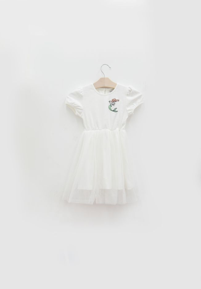 PRINCESS ARIEL EMBROIDERY DRESS - KIDS