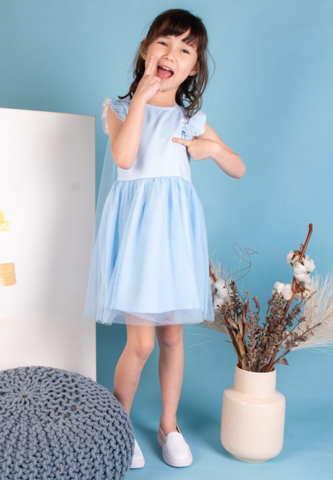 FROZEN II ELSA EMBROIDERY DRESS - KIDS